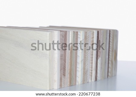 wooden boards on an isolated background
