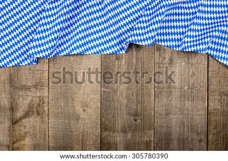 Wooden boards with a bavarian diamond pattern  - stock photo