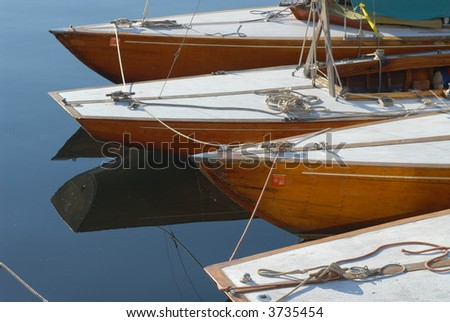 Wooden Boats - stock photo