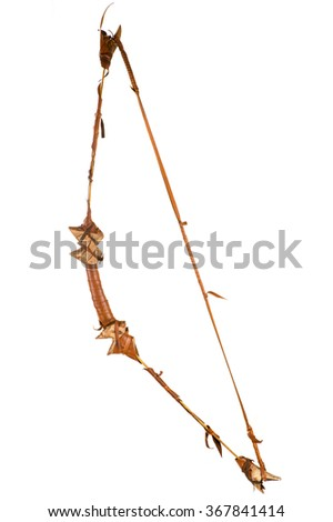 wooden bow in leather