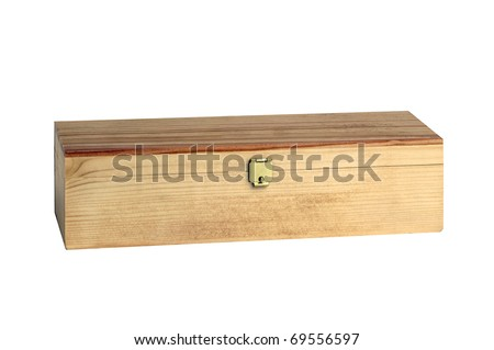 Wooden box - stock photo