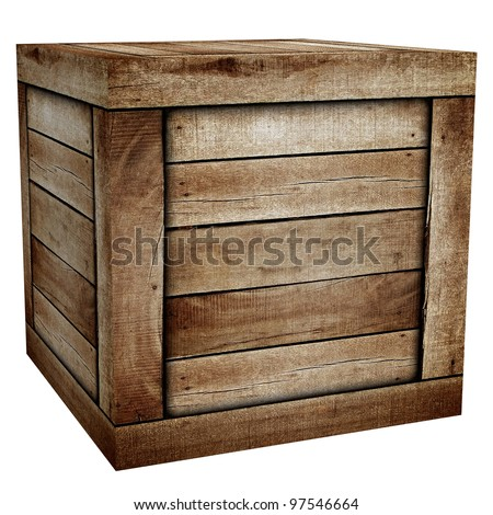 Wooden box stock images royalty free images vectors for Where do i find wooden crates