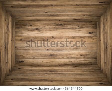 wooden box background - stock photo