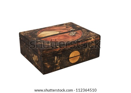 wooden box - Isolated on white background