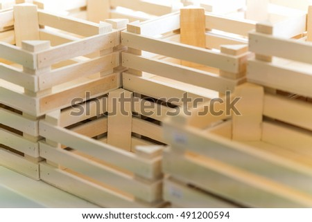 Wooden boxes, background