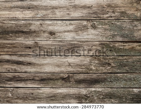 Wooden brown texture  looking obsolete and ragged, can be used as floor or table background - stock photo