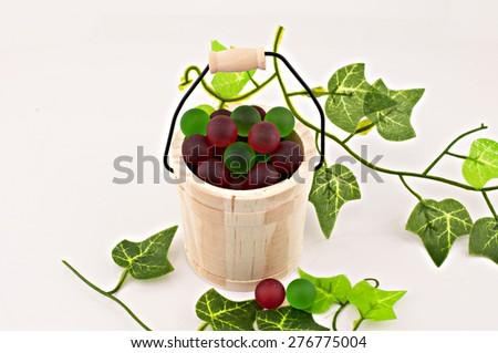 Wooden bucket - stock photo