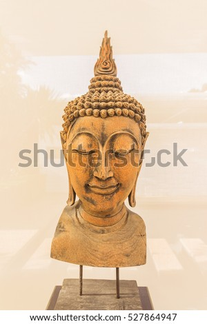 Wooden Buddha statue for decoration indoor