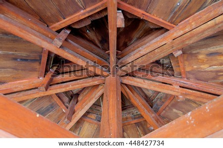 Wooden building detail - stock photo