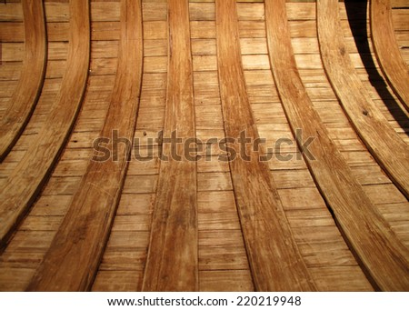 Wooden Canoe - Inside Ribs / Pattern - stock photo