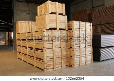 Wooden case - stock photo