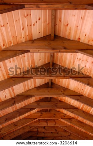 wooden 	ceiling,  background - stock photo
