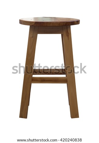 Wooden chair isolated on white background. - stock photo