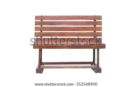 Wooden chair , on white background