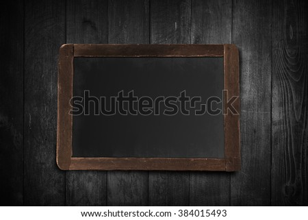 Wooden chalk board on wood texture background