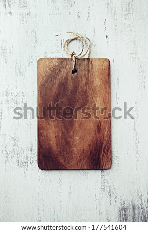 Wooden Chopping Board - stock photo