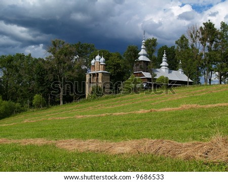 Wooden Church in Bieszczady Mountains, Poland