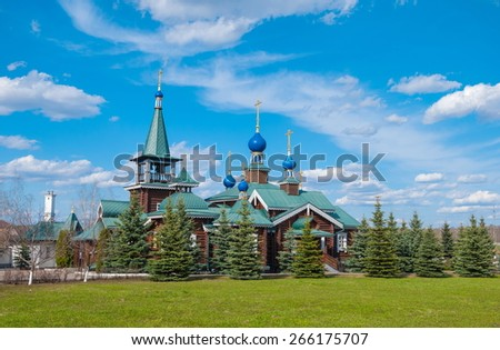 Wooden Church of the Epiphany in Moscow suburbs