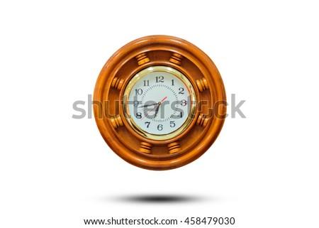 wooden clock - stock photo
