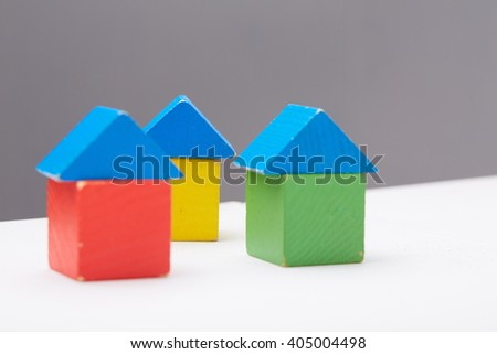 Wooden colorful cubes