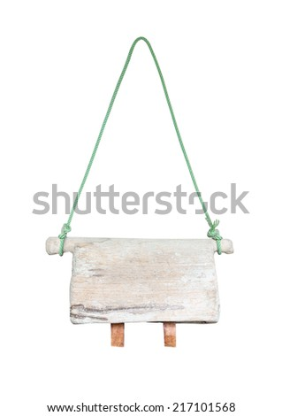 wooden cowbell isolated on white - stock photo