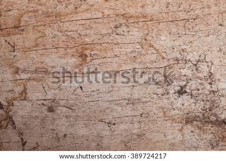 Wooden cracked and dust background texture.