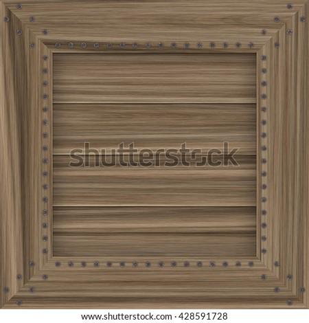 Wooden crate texture, 3D rendering, digital illustration art work. - stock photo
