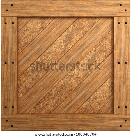 wooden crate texture. isolated on white background. 3d - stock photo