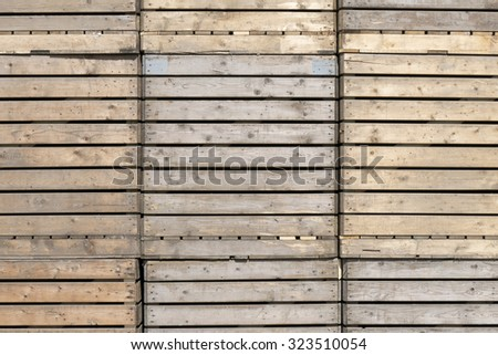 Wooden crates at a company in St. Nicolaasga, Netherlands. - stock photo
