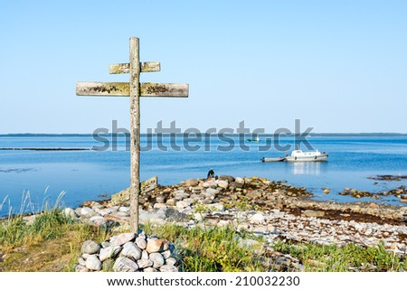 Wooden cross on Solovki