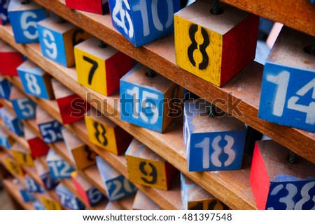 wooden cubes with numbers