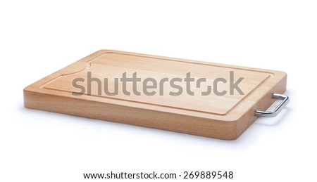 Wooden cutting board - stock photo