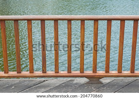 Wooden decorative terrace - stock photo