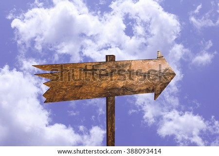 wooden directional arrow