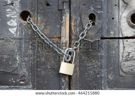wooden door locked
