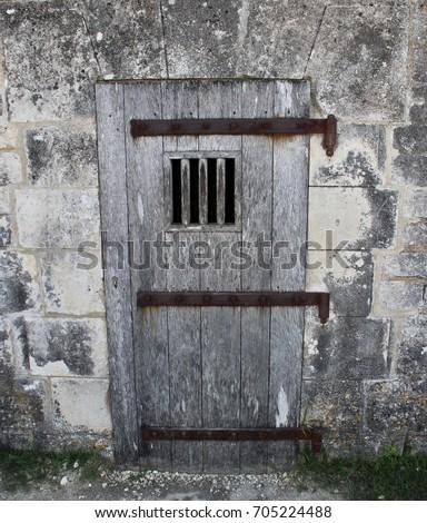 Wooden door of a prison cell & Prison Cell Door Stock Images Royalty-Free Images \u0026 Vectors ...