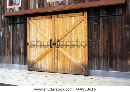 Delightful Wooden Door On Sliding Rails