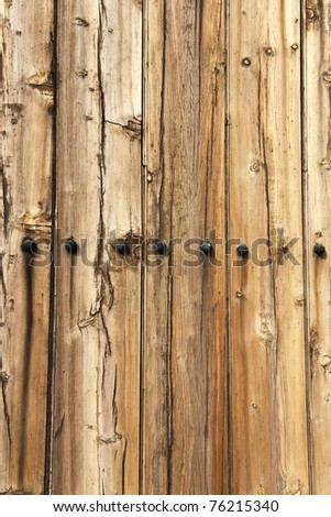 wooden door planks with metal bolts & Wooden Door Planks Metal Bolts Stock Photo (Royalty Free) 76215340 ...