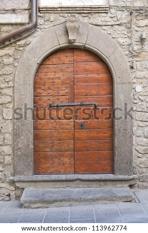 Wooden door. Vitorchiano. Lazio. Italy.