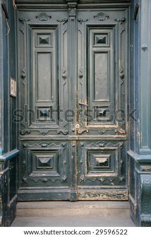 Wooden doors - stock photo