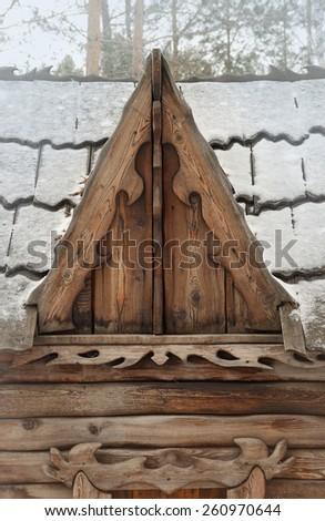 wooden dormer window - stock photo