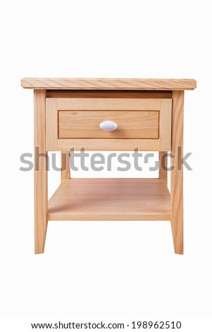 wooden drawer isolated on white background - stock photo