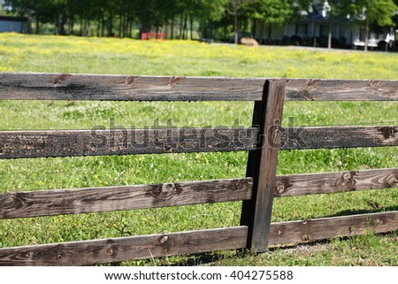 Wooden Farm Fence old wooden fence gate farm mountains stock photo 80879503