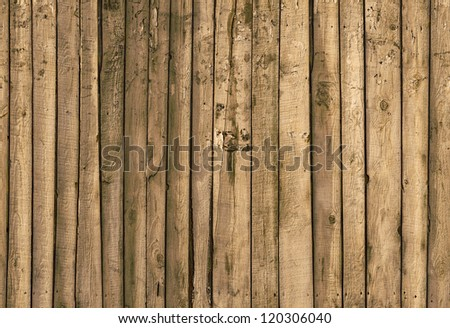 wooden fence (horizontally seamless) - stock photo