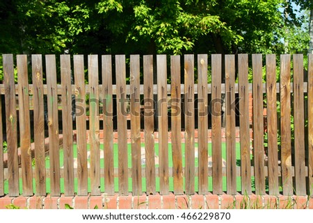 wooden fence, nature