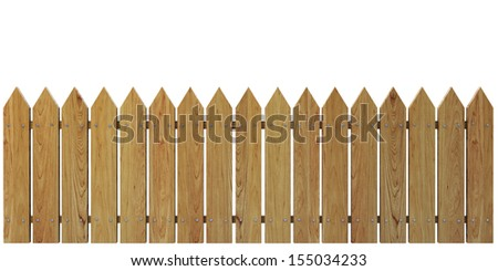 Wooden Fence on White background, Cherry Honey