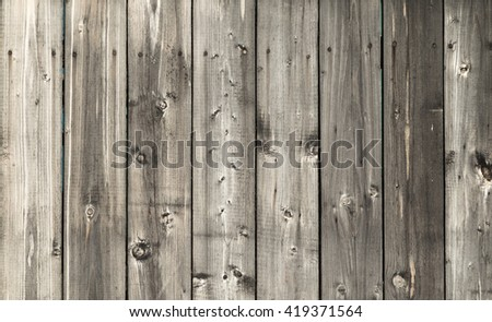 wooden fence panel background - stock photo