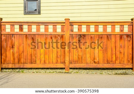 wooden fence with houses