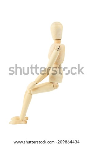 Wooden figure isolated on white