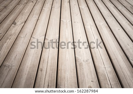 Wooden floor background photo texture with perspective effect - stock photo